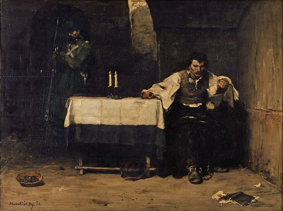 Mihály de Munkácsy. The Condemned, 1869–1872. Oil on panel. 31 x 39 1/2 in. Frye Art Museum,  Charles and Emma Frye Collectio