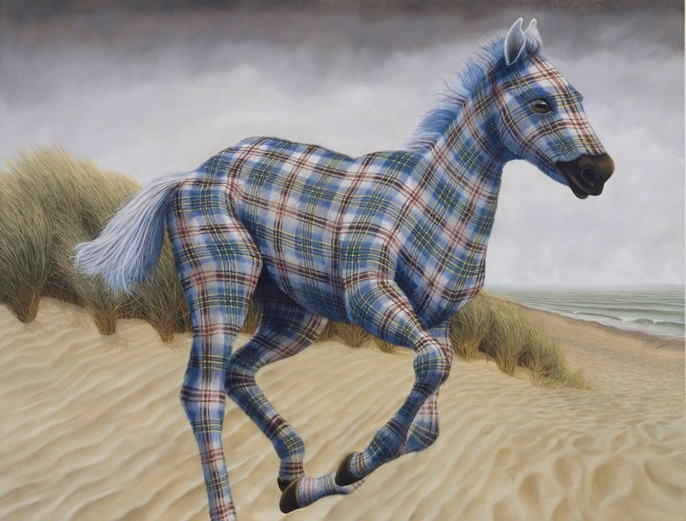 Performance Becomes Reality (Pony) 2014 Oil on linen 55 x 72 inches 139.7 x 182.9 cm LS 14/005
