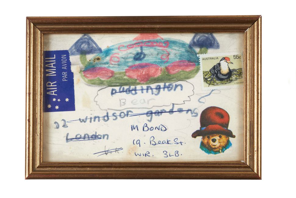 Fan mail letter from Australia addressed to 'Paddington Bear, 32 Windsor Gardens, London.'