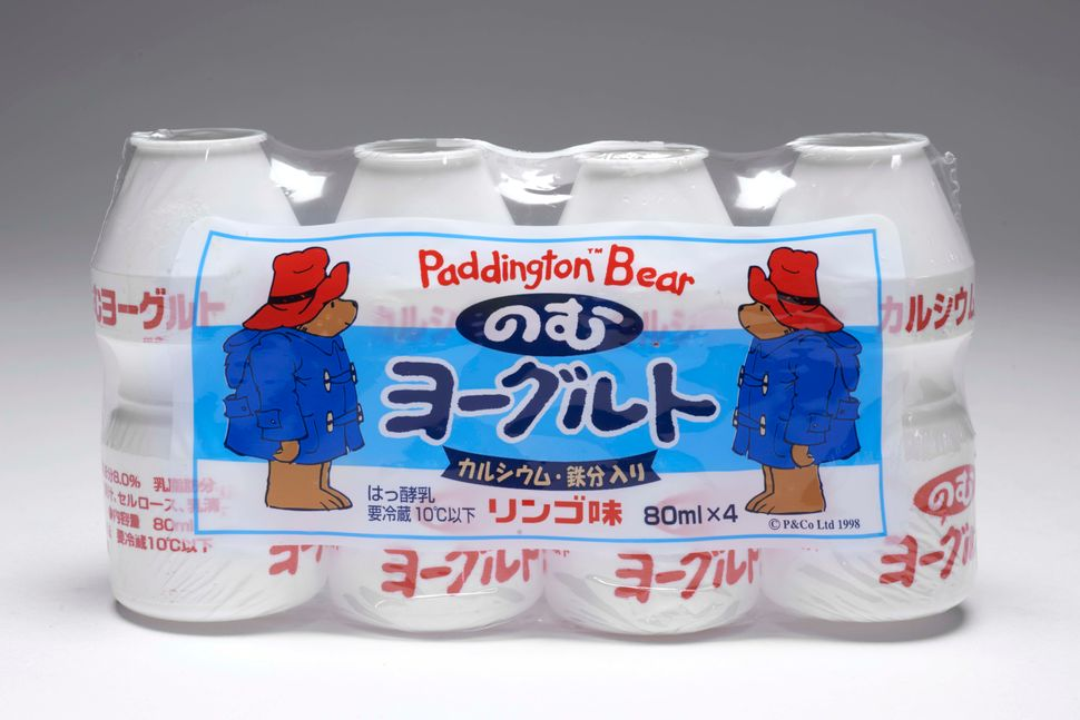 Paddington branded yoghurt drink bottles from Japan.