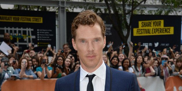 """Benedict Cumberbatch attends the premiere of """"The Imitation Game"""" on day 6 of the Toronto International Film Festival at the"""