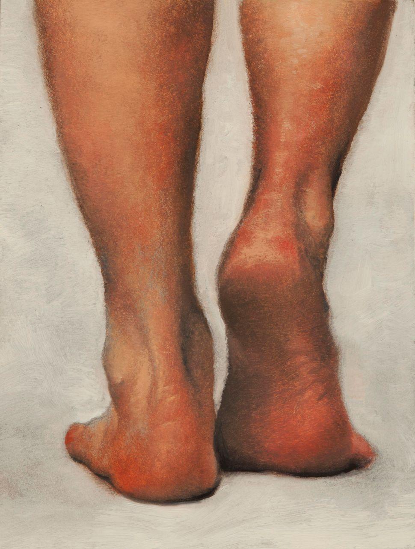 Daniel Maidman, Manou Walking Away, 2014, Oil on panel, 20.3 x 15.2 x 5.1 cm, 8 x 6 x 2 in