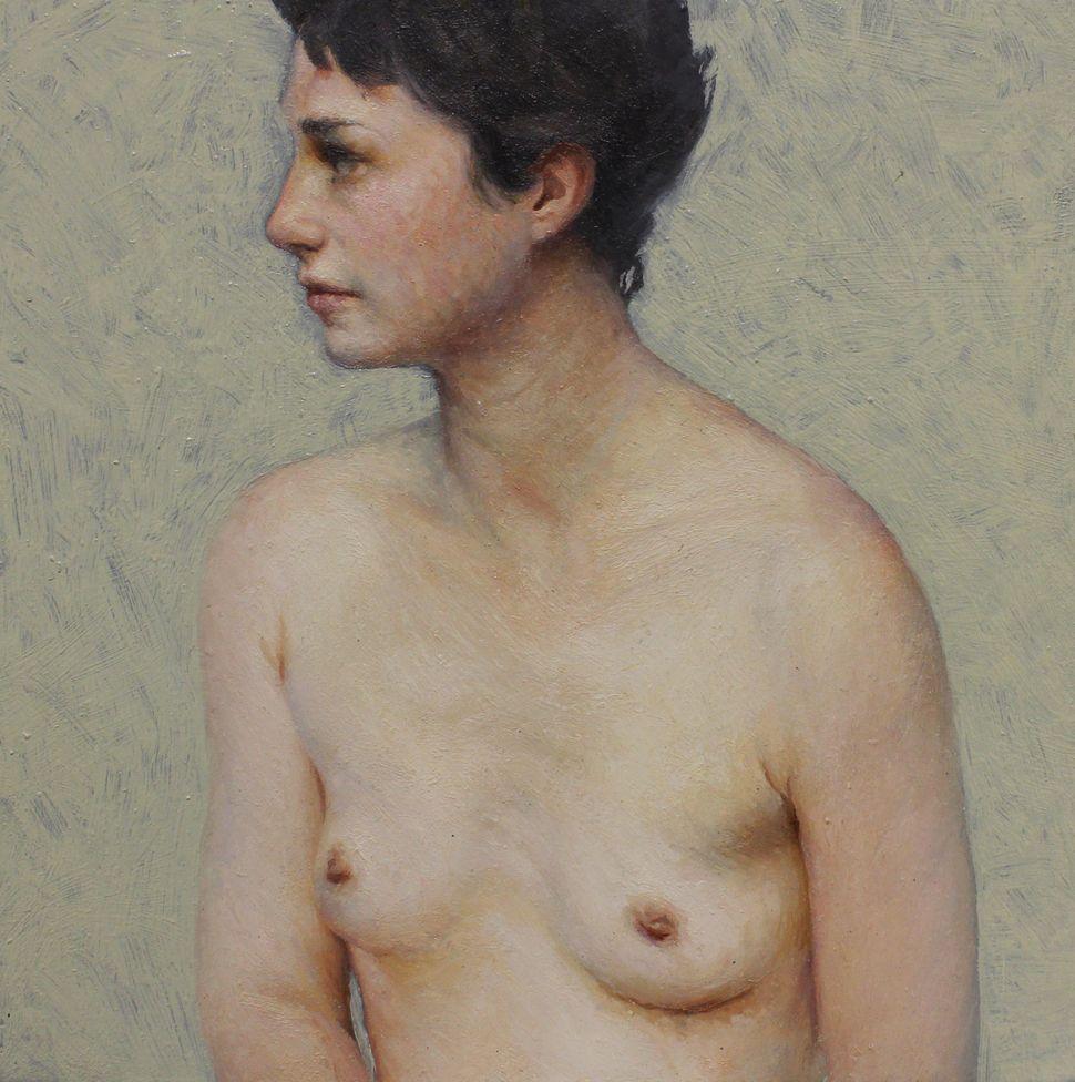 Aleah Chapin, Jumanji-Profile, 2014, Oil on canvas, 6 x 6 in