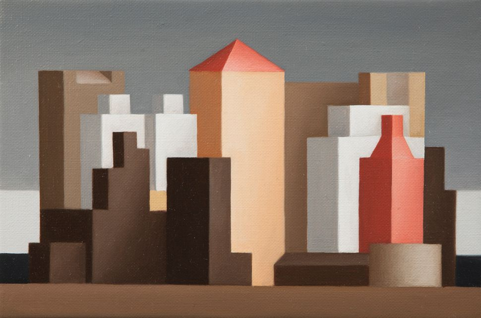 Renny Tait, American Cityscape, 2014, Oil on canvas, 6 x 9 in