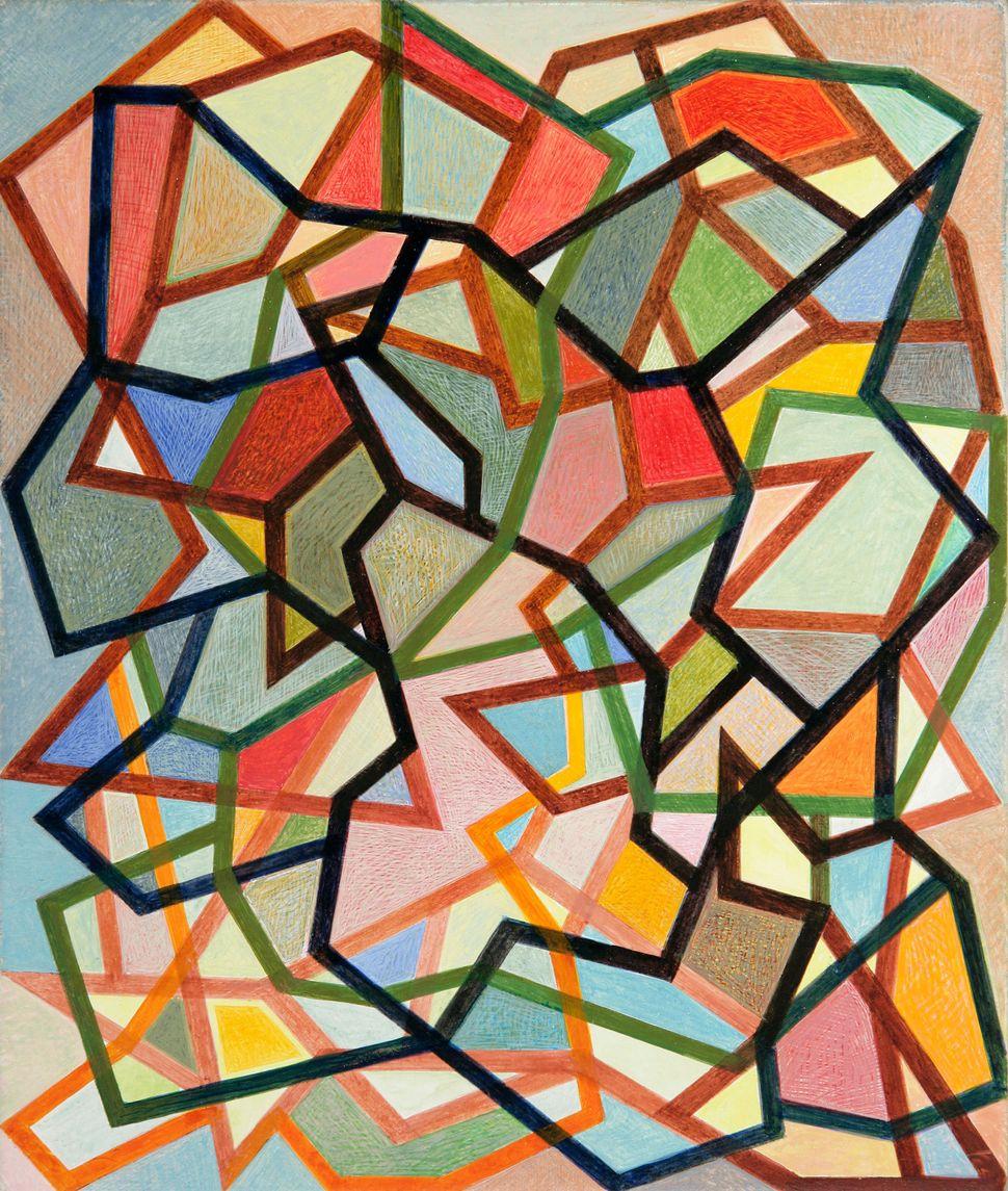Shaun McCracken, Untitled #178, 2008-2014, Egg tempera on gessoed panel, 8 14 x 7 in