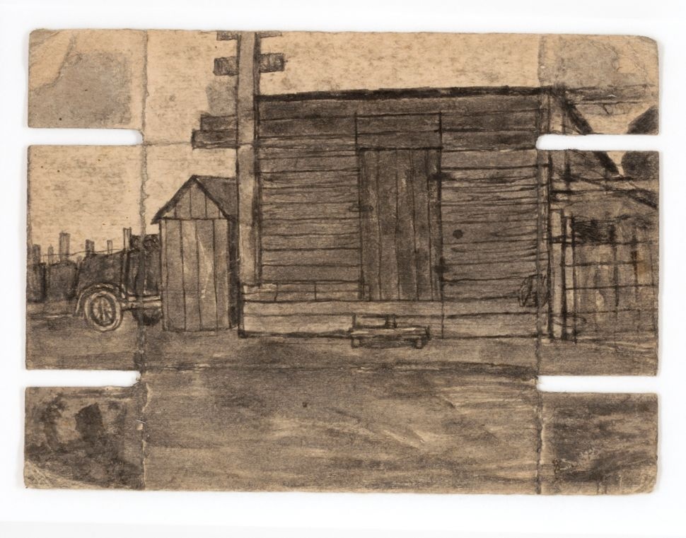 James Castle, Untitled, n.d., found paper and soot,  Smithsonian American Art Museum, Gift of the James  Castle Collection an