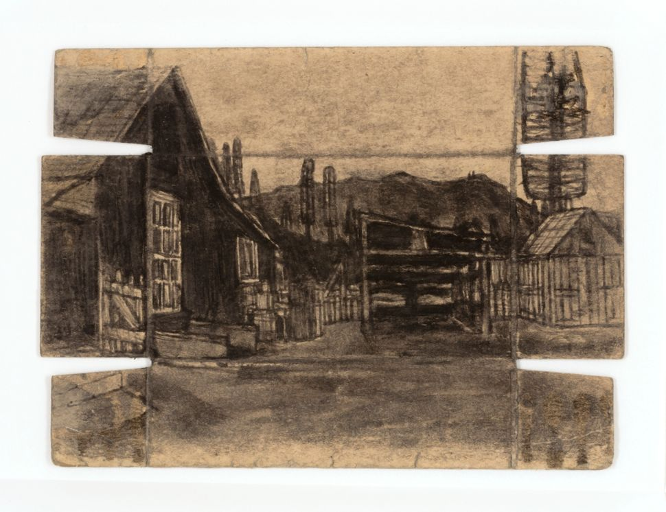 James Castle, Untitled, n.d., found paper, soot,  Smithsonian American Art Museum, Gift of the James  Castle Collection and