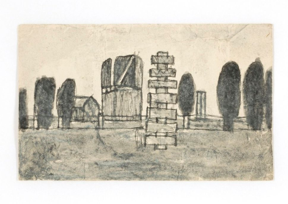 James Castle, Untitled, n.d., found paper and soot,  Smithsonian American Art Museum, Gift of the James  Castle Collection a