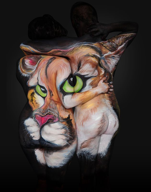 Body Painter Transforms Humans Into Breathtaking Portraits Of Animals Huffpost