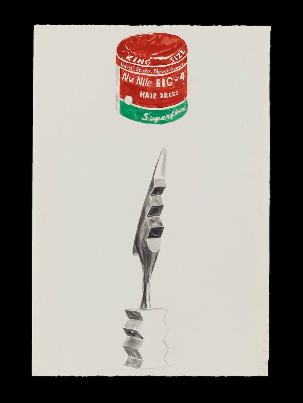 Glenn Ligon<br> The Cock/Nu Nile, 1985 Synthetic polymer, ink and graphite on paper 22 1/8 × 15 1⁄4 in. Courtesy the artist