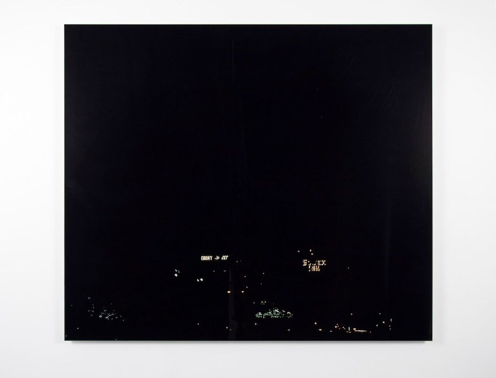 Kerry James Marshall<br> Black, 2002 Inkjet print on paper 49 3/5 × 42 9/10 in. Courtesy the artist and Jack Shainman Gallery