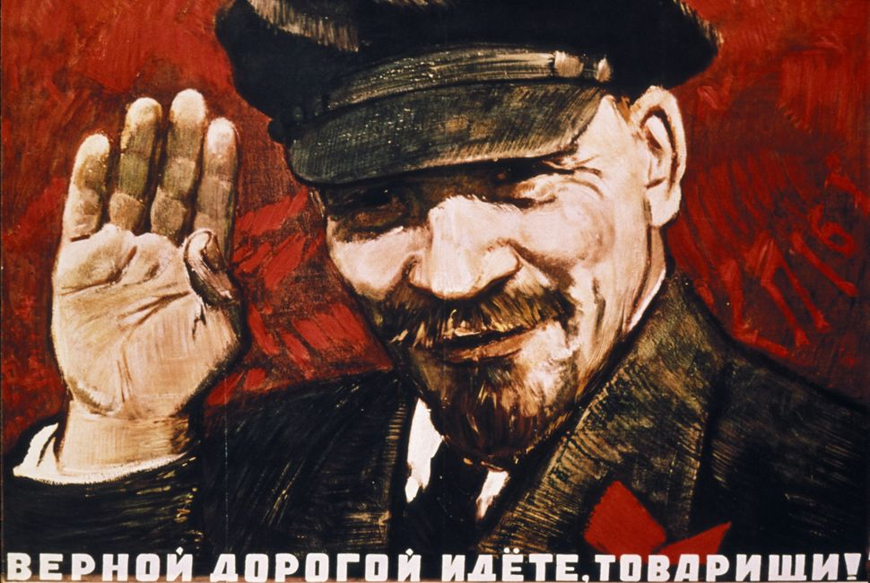 "Poster from the 20's. ""Follow the true path, comrades!"""
