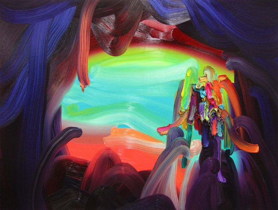 """Snakes Oil on canvas 30"""" x 40"""" 2014"""