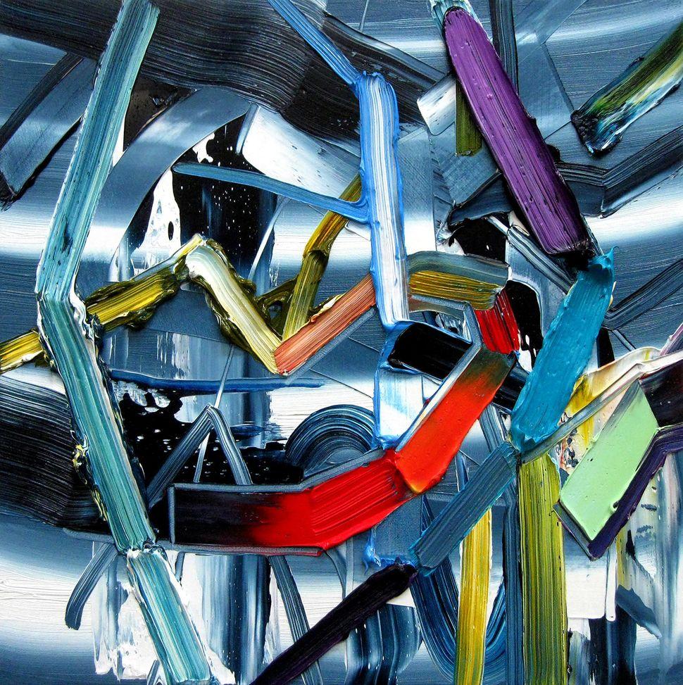 """Lattice Oil on canvas 12"""" x 12"""" 2014"""