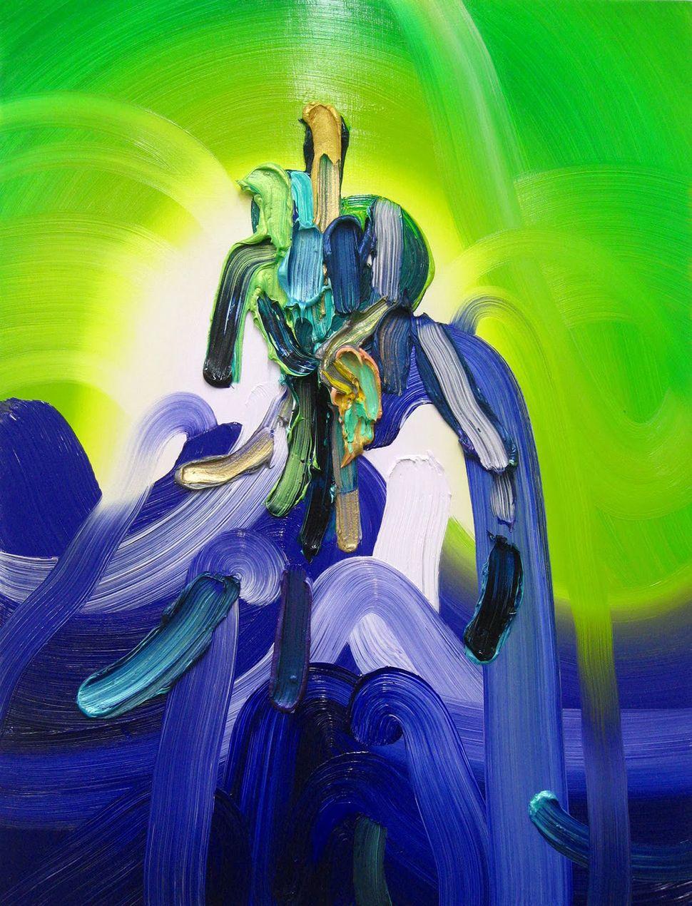 "Fountain Oil on panel 24"" x 18"" 2014"