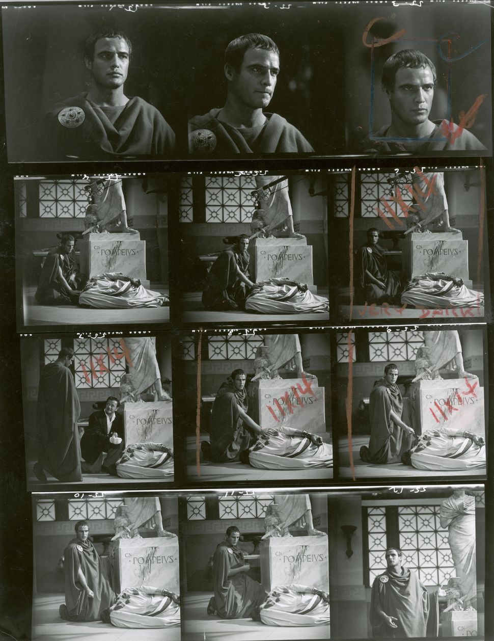 Contact Sheet Of Marlon Brando In 'Julius Caesar'