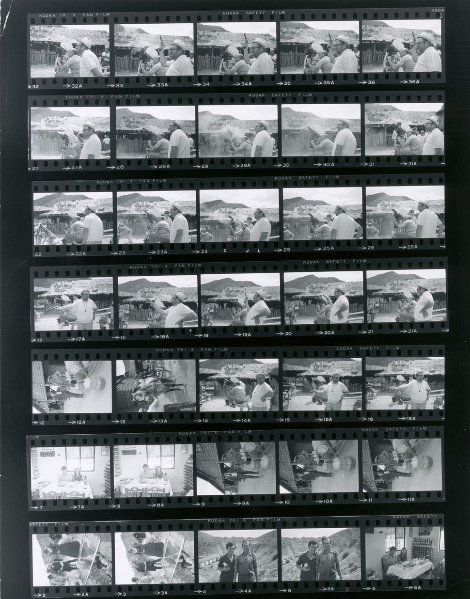 Contact Sheet From 'Once Upon A Time In The West'