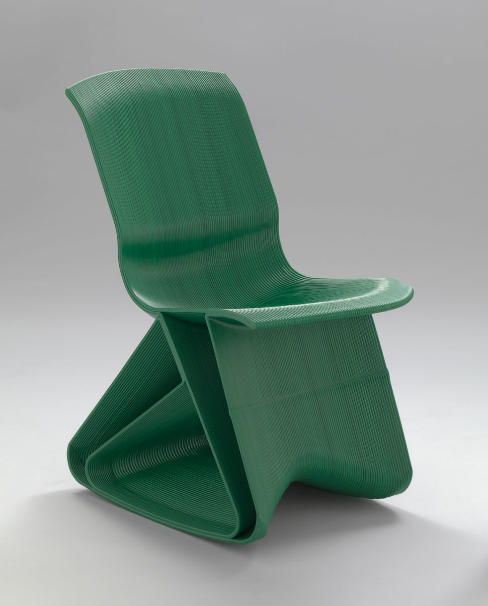 irk Vander Kooij (American, born 1983). Endless Flow Rocking Chair. 2011. Recycled plastic. 31 1/2 x 16 9/16 x 26 3/4″ (80 x