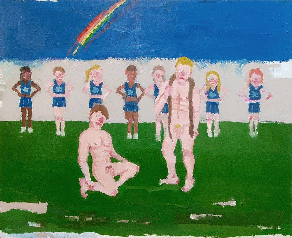 Jennie Ottinger Rainbow 2015 Oil on panel