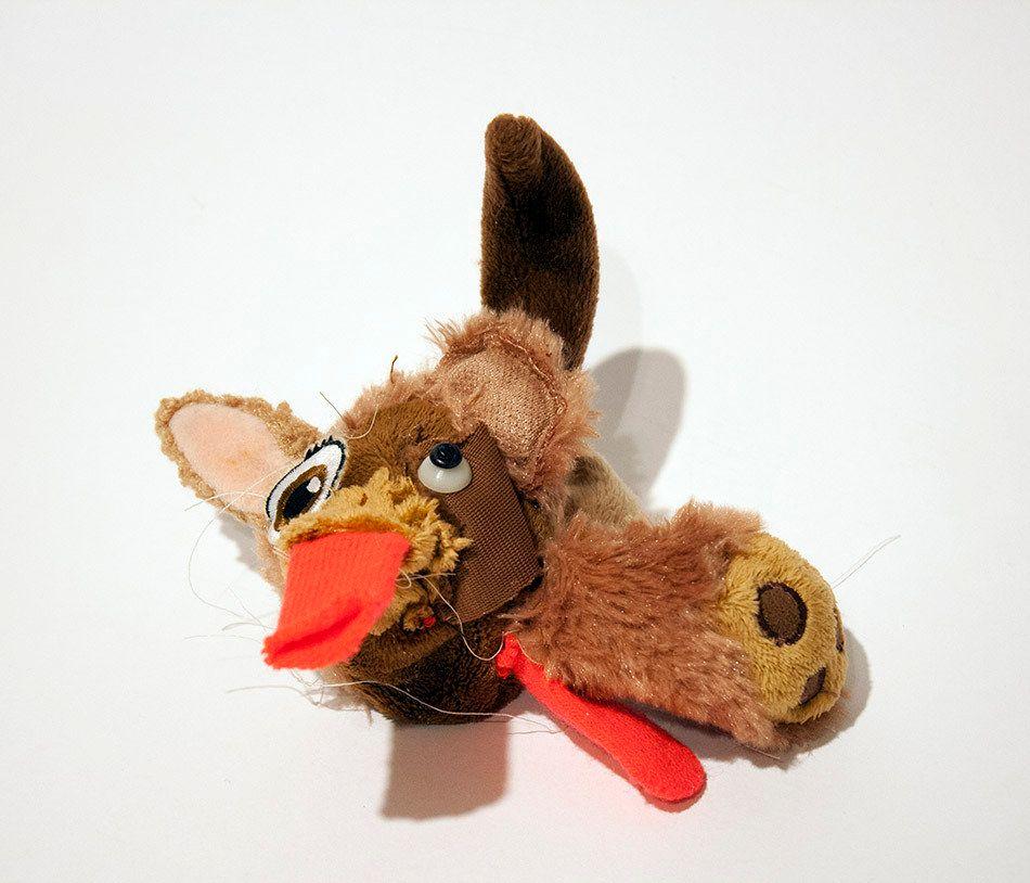 """Jennie Ottinger Thing 6 2015 Stuffed toy fur 6"""" x 6"""" x 4"""""""