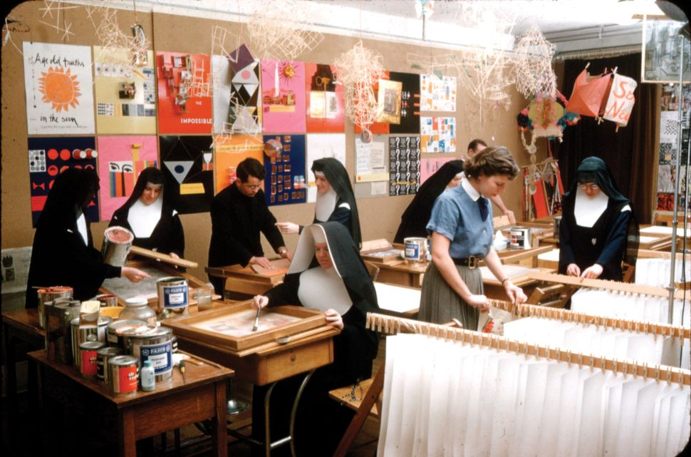 Immaculate Heart College Silkscreen Room. Courtesy of the Corita Art Center, Los Angeles.