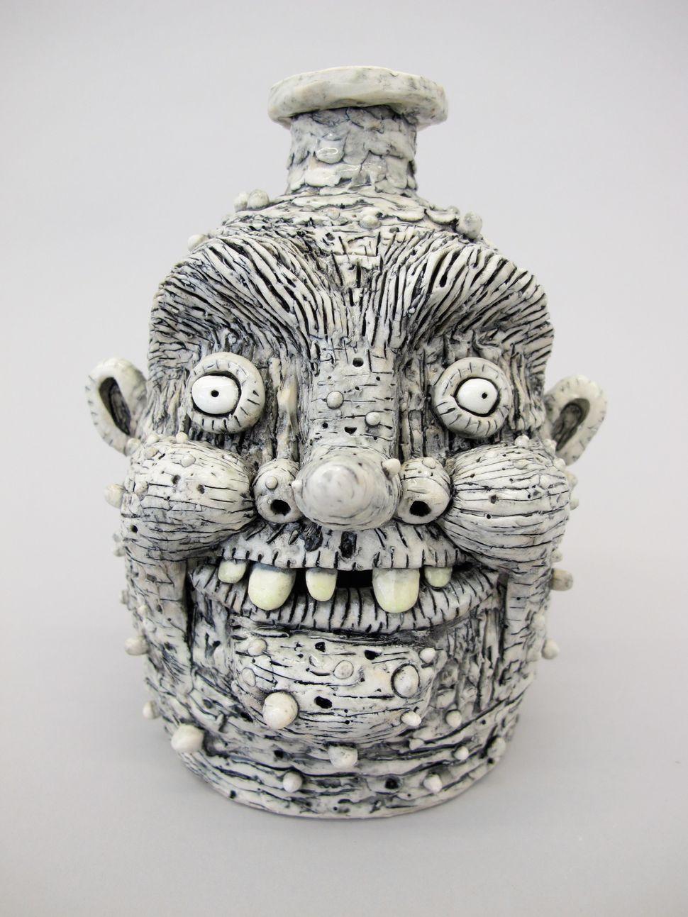 """PreciousJug,2014 Porcelain 7""""x5.5""""x5.5"""" RM019-cer"""