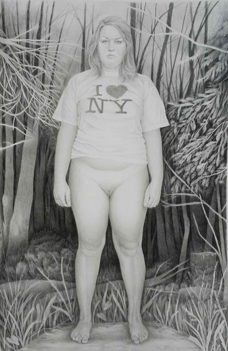 I Love	New	York,	2009 Graphite	on	paper