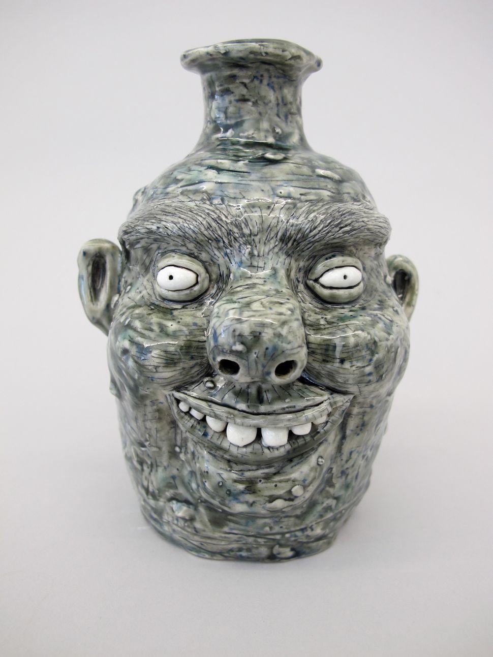"SmallGreyJug,2014 Porcelain 6.5""x4""x5"" RM021-cer"