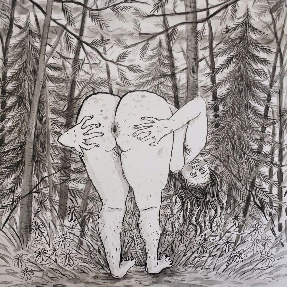 """Butt,2014 Inkonvellum 12.75""""x11"""""""