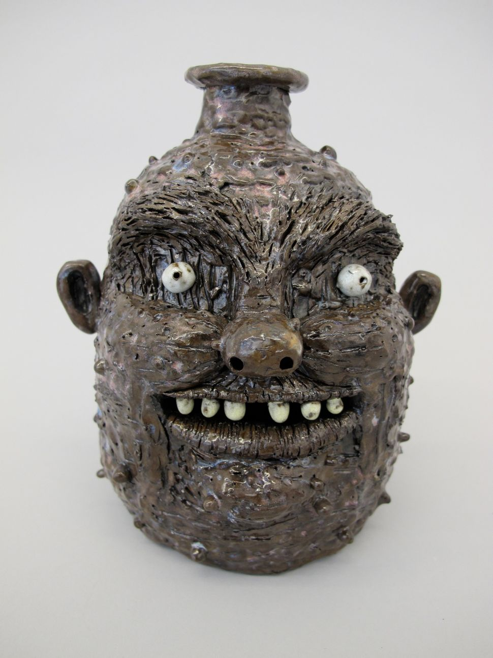 "BadBehaviorJug,2014 Porcelain 7.5""x6""x6"""