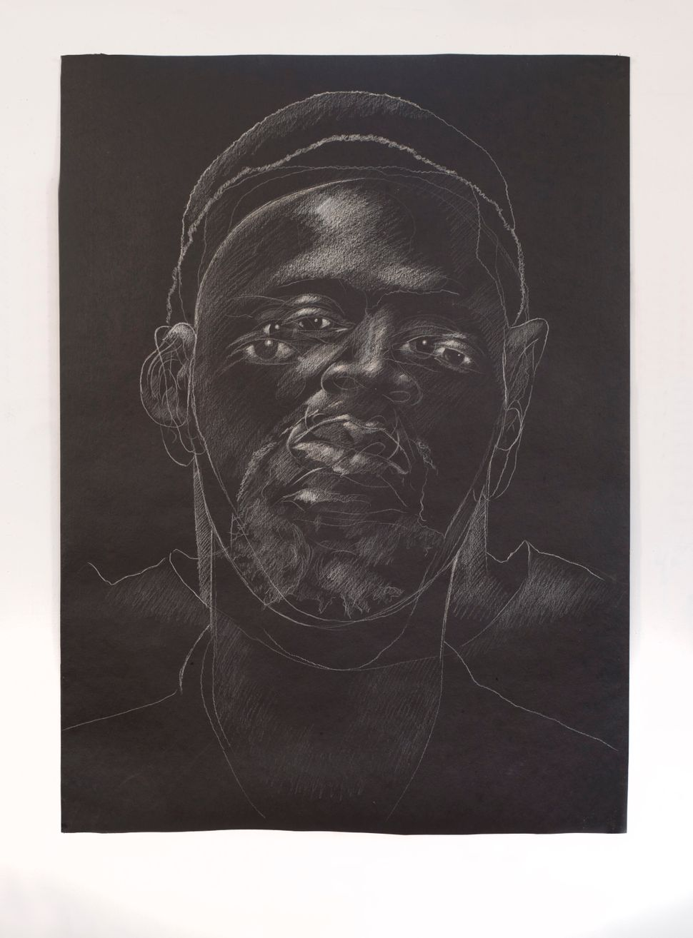 The Jerome Project (Asphalt and Chalk) III, 2014 approximate dimensions 51 x 36 inches ©Titus Kaphar. Courtesy of the artist