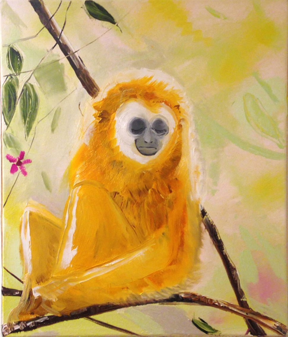 Lonely Monkey, 2014, Oil on canvas, 17 x 20 in