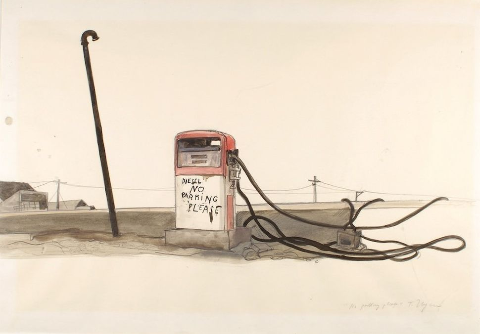 No Parking Please, 1971‐1983 (unpublished drawing for Slow Agony, first published 1983 by Diogenes Verlag AG, Zürich) Black