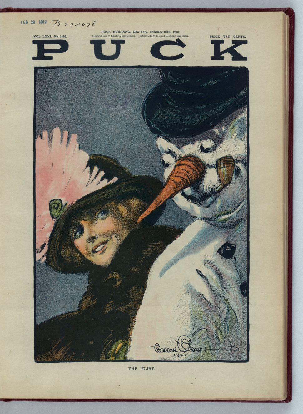 """February 28, 1912 (Artist Gordon Grant, 1875-1962) <br> *Note: This one is titled """"The Flirt"""""""