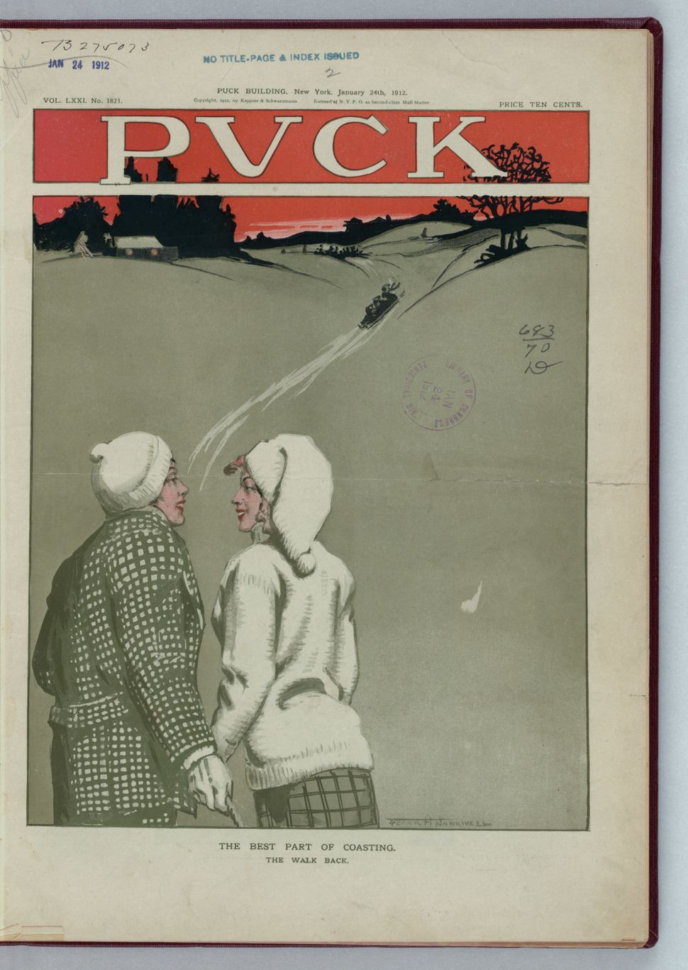 January 24, 1912 (Artist Frank A. Nankivell, 1869-1959)