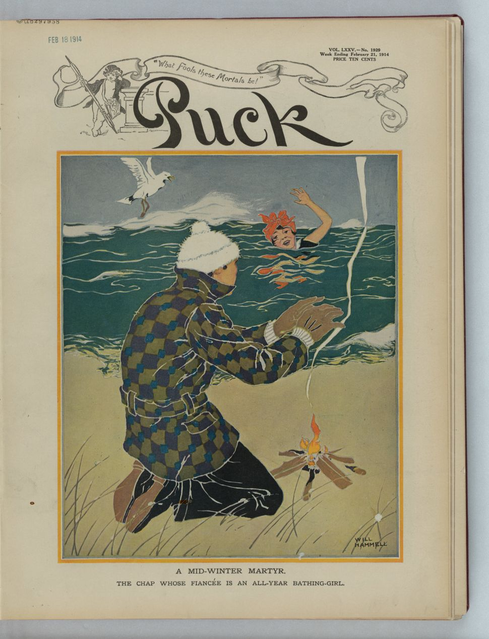 February 21, 1914 (Artist Will Hammell, 1888-1963)