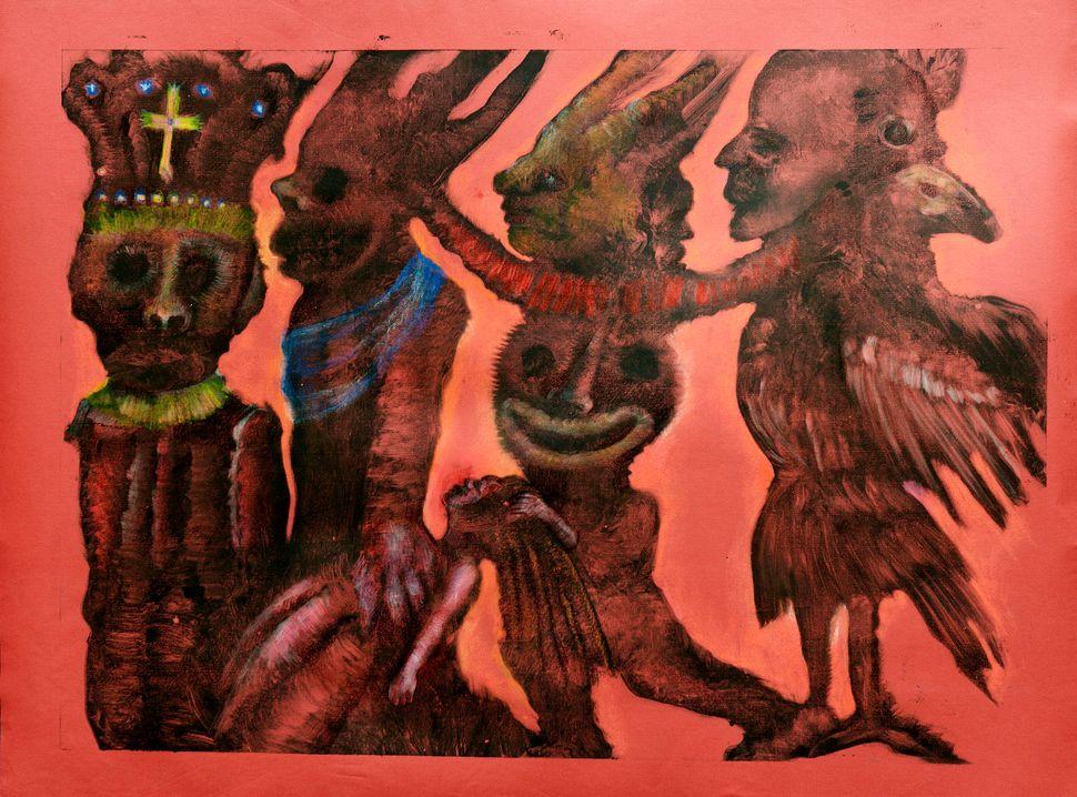L'enlèvement, 2014 monotype on paper 70 x 80 cm © Polad-Hardouin Gallery
