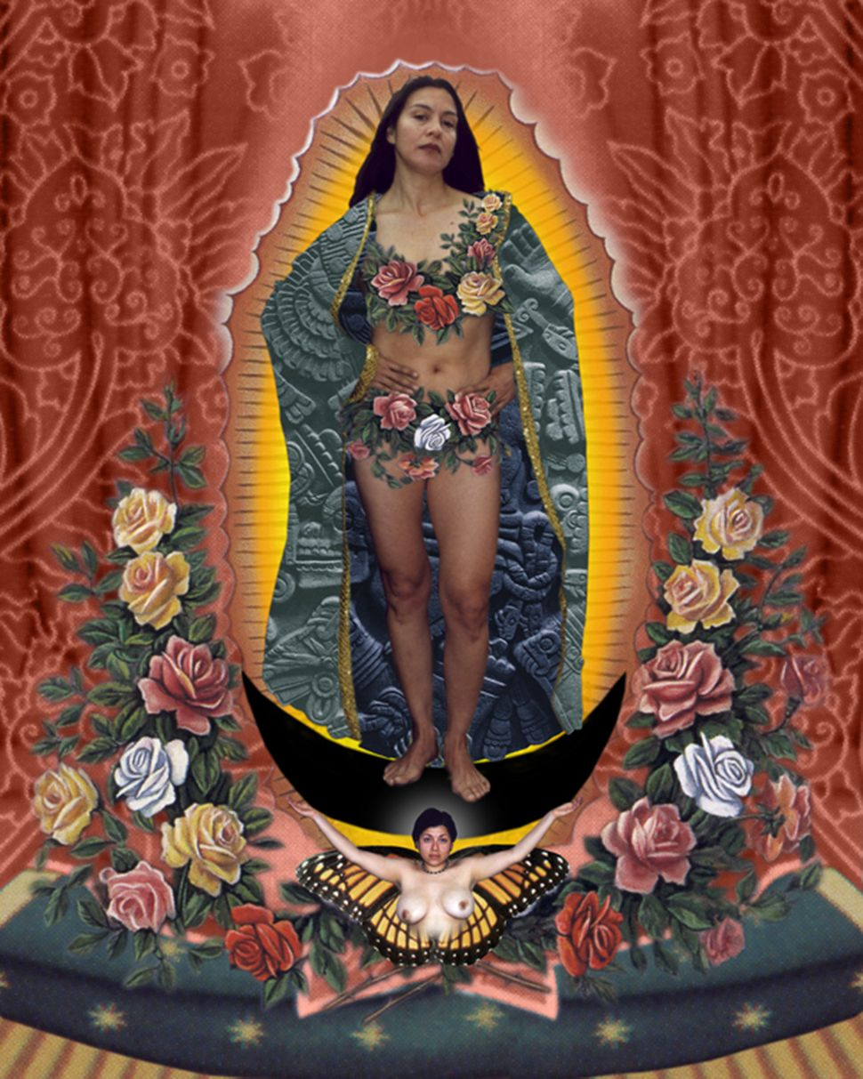 Alma Lopez, Our Lady, 1999, digital print, 17.5 x 14 in. Courtesy of the artist.