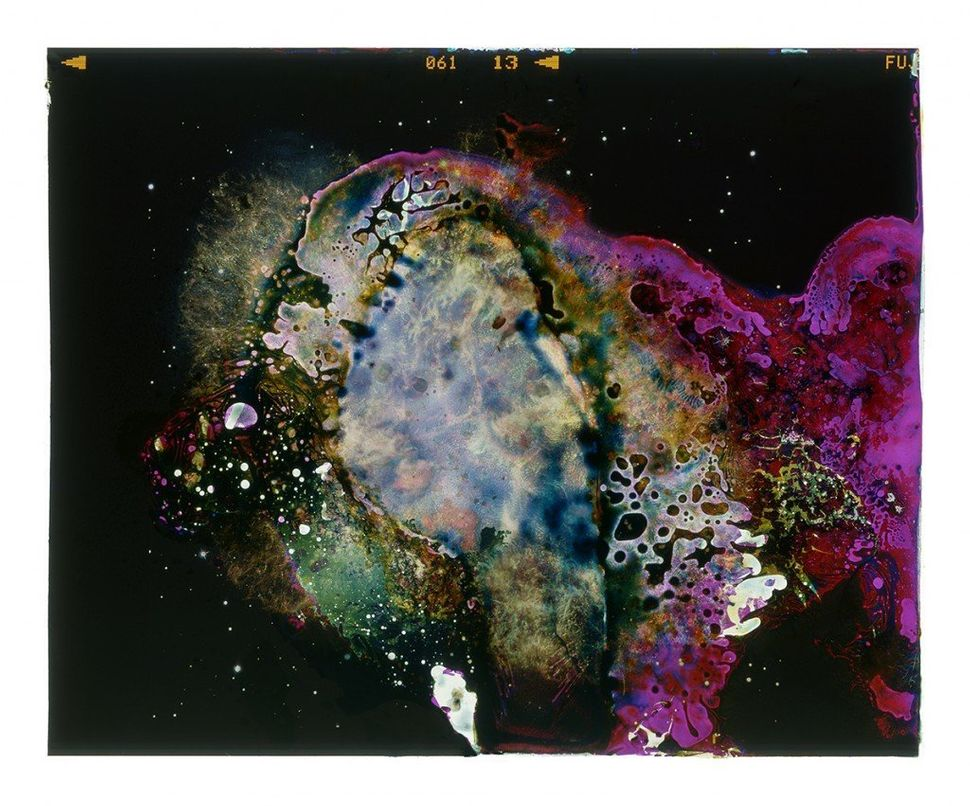 A Photograph of the Crab Nebula Eaten by Bacteria Found on a Table at a Red Lobster Restaurant (Archival Pigment Print of Bac