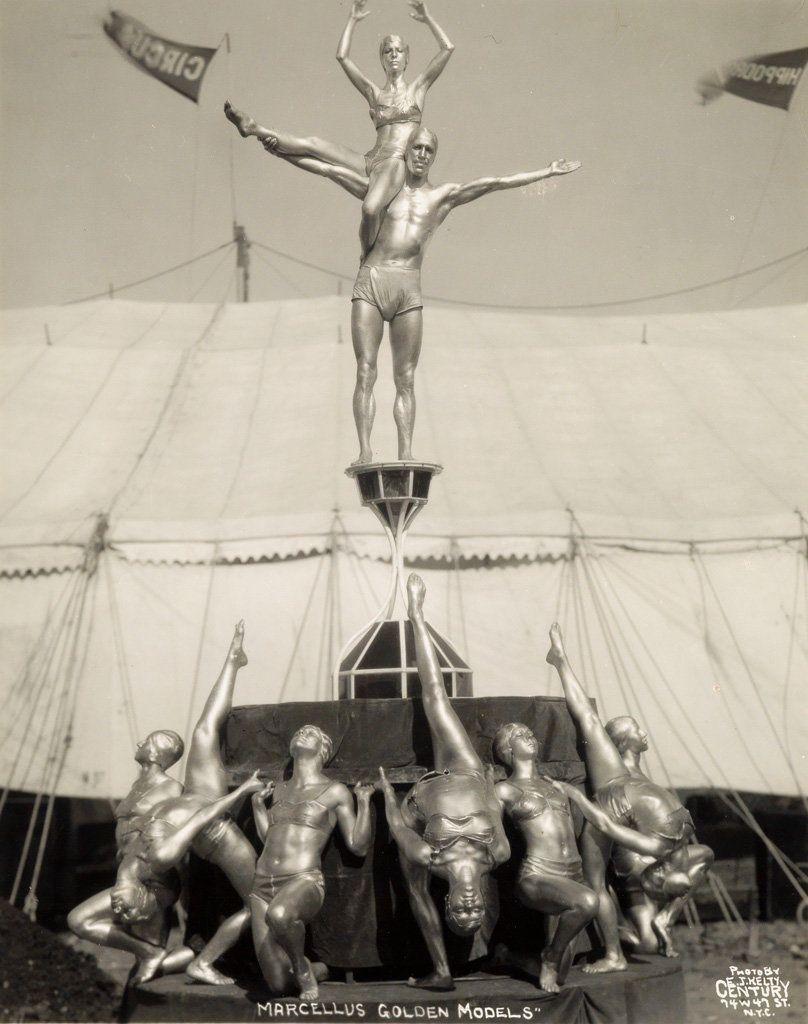 "Sale 2374 Lot 31: KELTY, EDWARD J. (1888-1967) ""Marcellus Golden Models."" Silver print, 11 1/4x8 7/8 inches (28.6x22.5 cm.),"