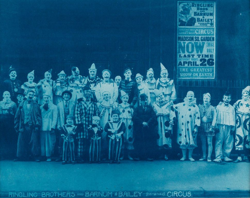 """Sale 2374 Lot 32: KELTY, EDWARD J. (1888-1967) """"Ringling Brothers and Barnum & Bailey (Combined) Circus"""" (clowns behind Madis"""