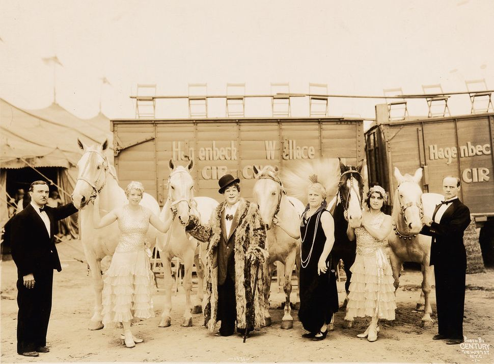 Sale 2374 Lot 38: KELTY, EDWARD J. (1888-1967) Group of 8 stunning panoramic photographs of the circus, with the Hanneford Fa