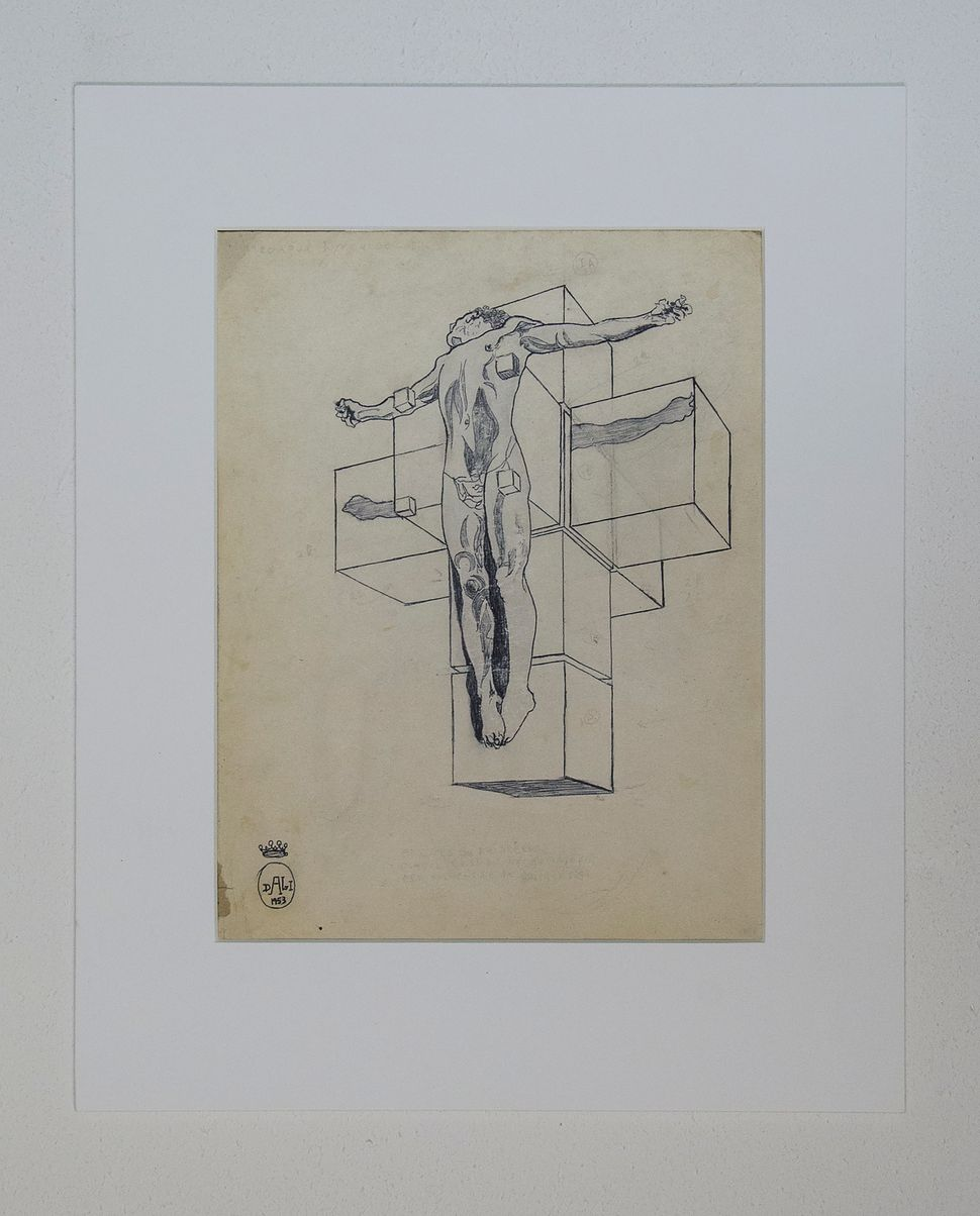 Figure with Diamonds, Pen and Ink, 1950s, Private Collection, Dali at NAC, photo by Andrew Werner