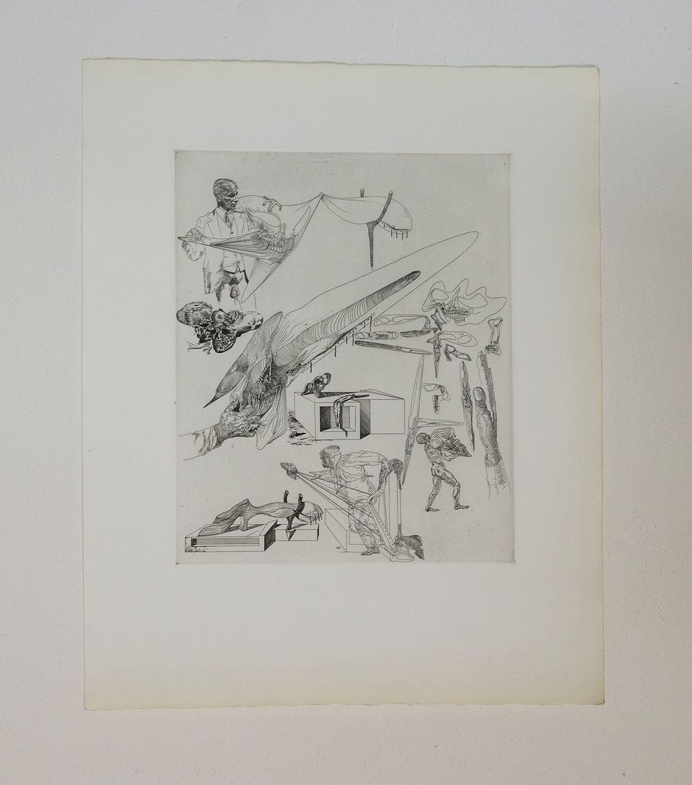 Cheval Royale, Experimental print, 1960s, Inscribed to Walter Maibaum, Collection of Walter Maibaum and Carol Conn, Dali at N