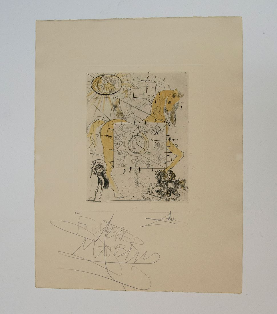 Cranes Mous Et Harpe Crainenne, 1935, Proof Impression, Dali Exhibit, Collection of Walter Maibaum and Carol Conn, photo by A