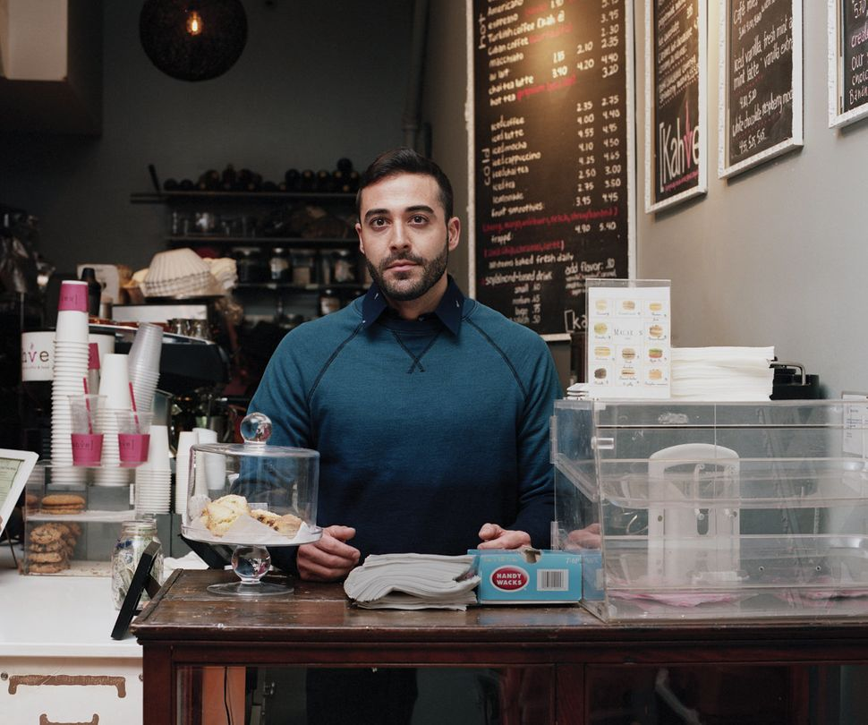 <strong>Erol,</strong> small business owner, opened Kahve coffee shop with the man he was dating.