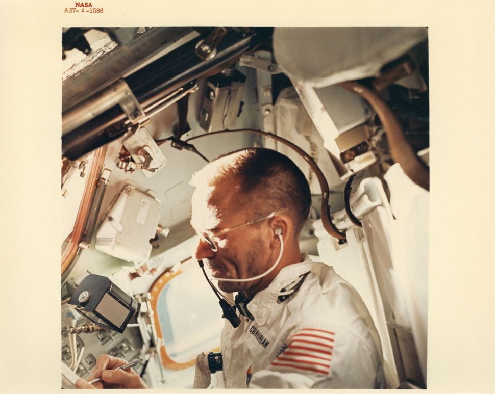 Walter Schirra, On-board portrait of astronaut Walter Cunningham, Apollo 7, October 1968