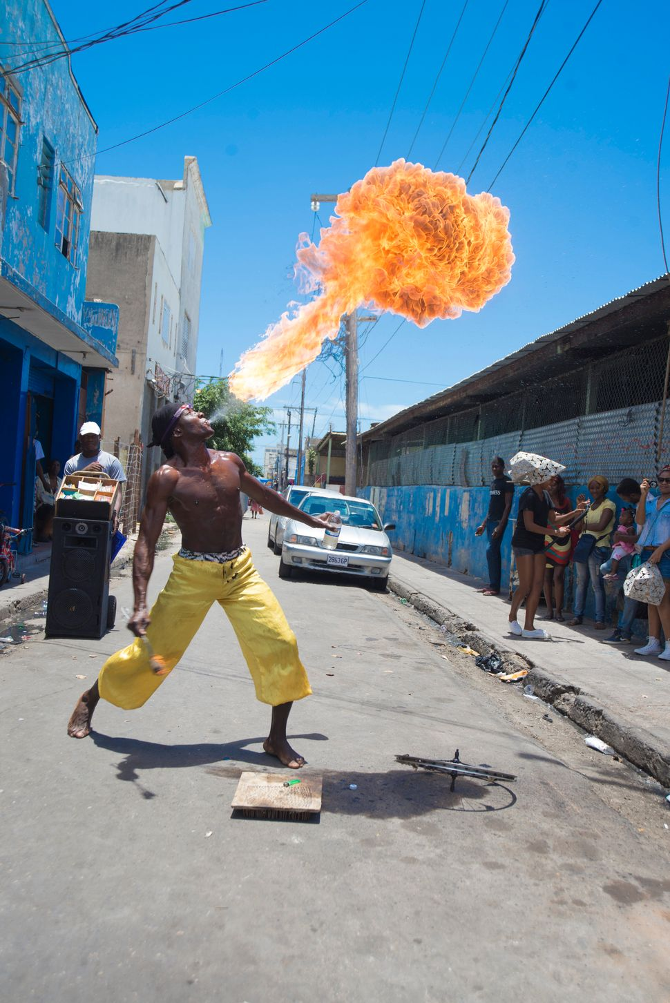 Charles Campbell, Actor Boy: Fractal Engagement, performance, April 21, 2014, Kingston, Jamaica. Photograph: Marvin Bartley.