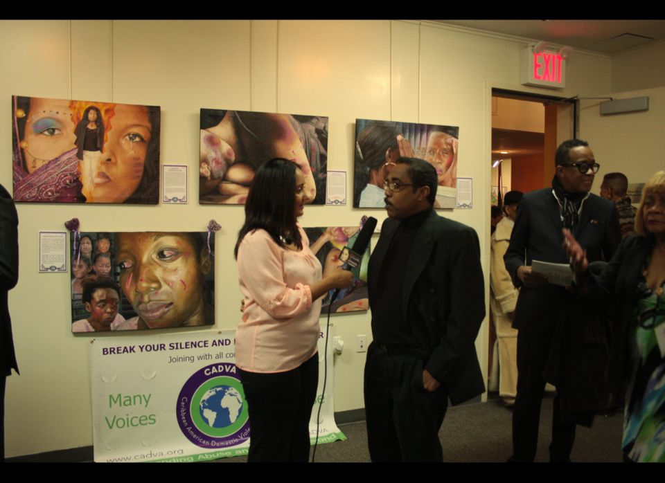 Journalist Lakshmie Fingh interviews artist Carl F. Anderson about his artwork that speaks to issues of domestic violence.
