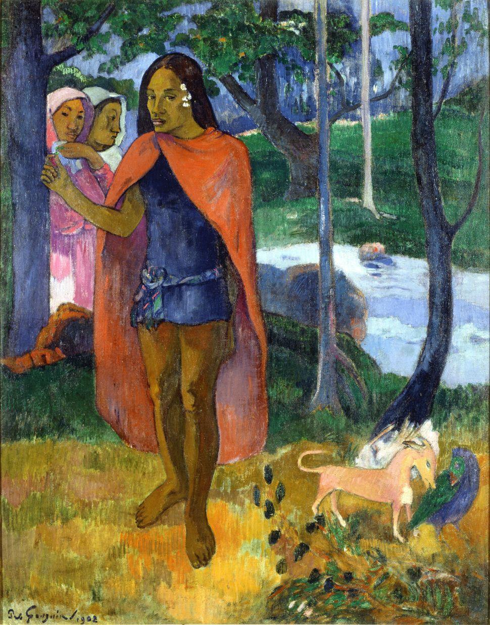 Le sorcier d'Hiva Oa ou Le Marquisien à la cape rouge, 1902 © Paul Gauguin (Paris, 1848 – Iles Marquises, 1903) © Musée des B